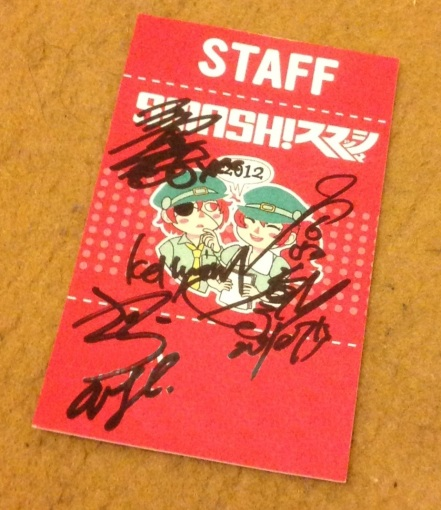 A memento from SMASH 2012...