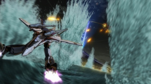 The essence of Macross: cool dogfights, rousing music, and an intergalactic love story...
